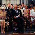 La princesse Victoria de Suède et ses parents le roi Carl XVI Gustaf et la reine Silvia de Suède assistaient dimanche 15 juin 2014 à la cérémonie d'ordination de l'évêque Antje Jackeléns archevêque de l'Eglise de Suède en la cathédrale d'Uppsala.