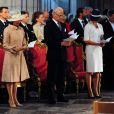 La princesse Victoria de Suède, très élégante, et ses parents le roi Carl XVI Gustaf et la reine Silvia de Suède assistaient dimanche 15 juin 2014 à la cérémonie d'ordination de l'évêque Antje Jackeléns archevêque de l'Eglise de Suède en la cathédrale d'Uppsala.
