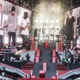"""Le groupe """"One Direction"""" en concert à Copenhague. Le 16 juin 2014"""