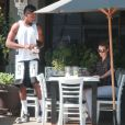 Exclusif - Iggy Azalea et son petit ami Nick Young déjeunent au restaurant Toast, à West Hollywood. Le 13 juin 2014.