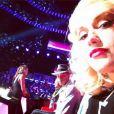 Gwen Stefani fait ses premiers pas dans l'émission The Voice, dont elle est un des nouveaux coach avec Pharrell Williams. Photo postée le 18 juin 2014.
