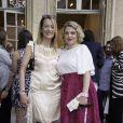 """Gabrielle Lazure et Sophie Guillemin - Présentation du nouveau parfum """"Untold"""" d'Elizabeth Arden à l'hôtel particulier de Mrs Mona Bismarck à Paris, le 19 juin 2014.19/06/2014 - Paris"""