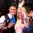 Wanda Nara et le footballeur Mauro Icardi (Inter Milan) se marient à Buenos Aires, le 27 mai 2014.