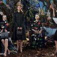 Campagne publicitaire automne-hiver 2014-15 de Dolce & Gabbana, avec Claudia Schiffer. Photo par Domenico Dolce.