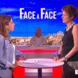 """Natacha Polony rencontre Léa Salamé dans le """"Grand 8"""" sur D8. Le 24 juin 2014."""