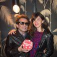 Philippe Manoeuvre et sa compagne Candice de La Richardière - Soirée d'anniversaire des 4 ans du Bus Palladium à Paris le 3 avril 2014.