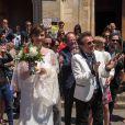 Exclusif : Mariage religieux et rock'n 'roll de Philipe Manoeuvre et Candice de la Richardière à l'église St Ouen de Livarot dans le Calvados le 21 juin 2014