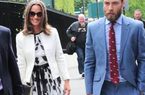 Pippa Middleton : Souriante et estivale à Wimbledon avec son frère barbu James