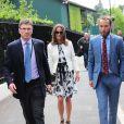 Pippa Middleton, grande fan de tennis, et son frère James viennent assister au match du jour au All England Lawn Tennis and Croquet Club de Wimbledon à Londres, le 26 juin 2014
