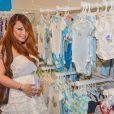La sulfureuse Tila Tequila, enceinte, fait du shopping pour bébé, le 14 mai 2014.