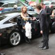La chanteuse coréenne CL (Lee Chae-rin) arrive au Grand Palais pour assister au défilé haute couture Chanel. Paris, le 8 juillet 2014.