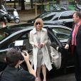 Anna Wintour arrive au Grand Palais pour assister au défilé haute couture Chanel. Paris, le 8 juillet 2014.