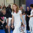 Camille Muffat à Paris le 13 août 2012, après les JO de Londres où elle est devenue championne olympique. La nageuse a annoncé le 12 juillet 2014, dans L'Equipe, sa retraite sportive, à 25 ans seulement.