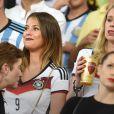Montana Yorke lors de la finale de la Coupe du monde entre l'Allemagne et l'Argentine, le 13 juillet 2014 au stade Maracanã de Rio de Janeiro