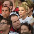 Lena Gercke, la compagne de Sami Khedira lors de la finale de la Coupe du monde entre l'Allemagne et l'Argentine, le 13 juillet 2014 au stade Maracanã de Rio de Janeiro
