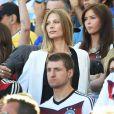Sarah Brandner la compagne de Bastian Schweinsteiger lors de la finale de la Coupe du monde entre l'Allemagne et l'Argentine, le 13 juillet 2014 au stade Maracanã de Rio de Janeiro
