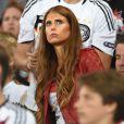 Cathy Fischer, la compagne de Mats Hummels lors de la finale de la Coupe du monde entre l'Allemagne et l'Argentine, le 13 juillet 2014 au stade Maracanã de Rio de Janeiro