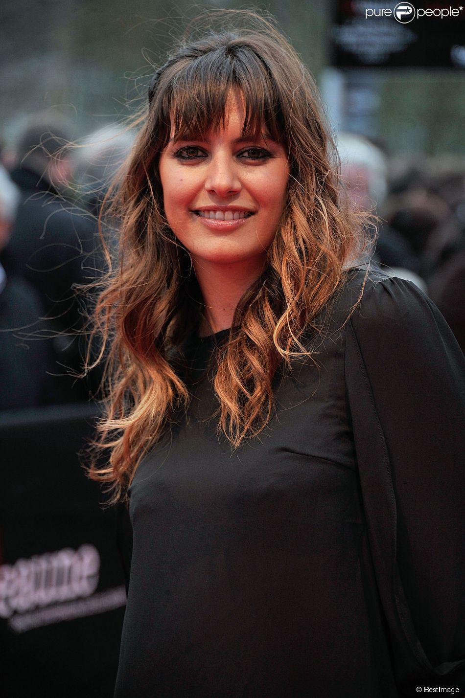 Laetitia Milot sur le tapis rouge du 5e Festival International du Film Policier de Beaune le 6 avril 2013.