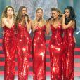 Nicola Roberts, Nadine Coyle, Sarah Harding, Kimberly Walsh et Cheryl Cole de Girls Aloud en concert à Birmingham, le 27 février 2013.