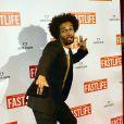 """Benoit Assou-Ekotto (Footballeur Tottenham Hotspur) lors de l'avant-première du film """"Fastlife"""" au cinéma Gaumont Capucines Opéra à Paris, le 15 juillet 2014."""