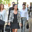 Tulisa Contostavlos, accusée de trafic de cocaïne, le 16 juillet 2014 à son arrivée au tribunal de Southwark à Londres.