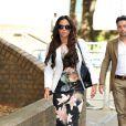 Tulisa Contostavlos, inculpée de trafic de cocaïne, le 14 juillet 2014 à son arrivée au tribunal de Southwark à Londres pour son procès.