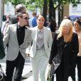 Tulisa Contostavlos le 27 juin 2014 à son arrivée au tribunal de Southwark à Londres pour une affaire d'agression.