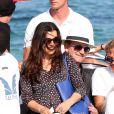 Bono et sa femme Ali Hewson au Club 55  plage de Pampelonne à Ramatuelle , le 24 juillet 2014.