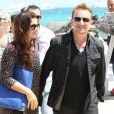 Le chanteur Bono et sa femme Ali Hewson au Club 55  plage de Pampelonne à Ramatuelle , le 24 juillet 2014.