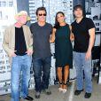 Freddie Miller, Josh Brolin, Rosario Dawson et Robert Rodriguez lors d'un photocall pour Sin City: A Dame to Kill For Photocall au Comic-Con de San Diego, le 26 juillet 2014.