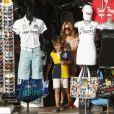 Sylvie Meis et son fils Damian à Saint-Tropez, le 28 juillet 2014.