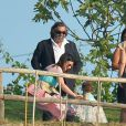Laura Pausini et sa fille Paola au mariage d'Eros Ramazzotti et Marica Pellegrinelli à la Villa Sparina à Monterotondo di Gavi, Italie, le 21 juin 2014.