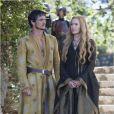 "Lena Headey et Pedro Pascal la saison 4 de ""Game of Thrones"", printemps 2014."