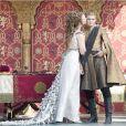 """Jack Gleeson et Natalie Dormer dans la saison 4 de """"Game of Thrones"""", printemps 2014."""