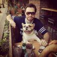 Michael Johns et son chien Puddy en juin 2014.