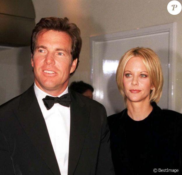 Meg Ryan et Dennis Quaid à la première du film A nous quatre en 1998