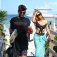 Brittny Gastineau et Eric Meier sur la plage à Miami, le 1er août 2014.