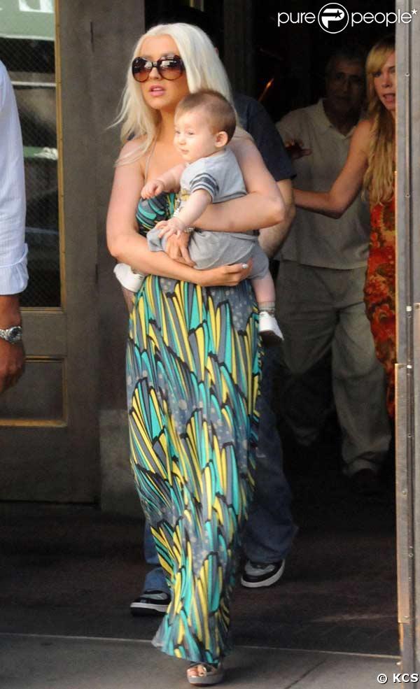 Christina Aguilera et son fils Max Liron Bratmanà N.Y.C