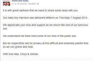Ada Nicodemou (Hartley, coeurs à vif) dévastée : Son bébé mort-né