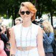 """Kristen Stewart au défilé de mode """"Chanel"""" Haute Couture Automne-Hiver 2014/2015 au Grand Palais à Paris, le 8 juillet 2014."""