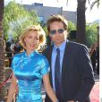 David Duchovny et Tea Leoni à Los Angeles, le 16 juillet 2001.