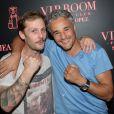 Exclusif - Farid Khider et Nicolas Duvauchelle à la soirée VIP Room à Saint-Tropez le 5 août 2014.