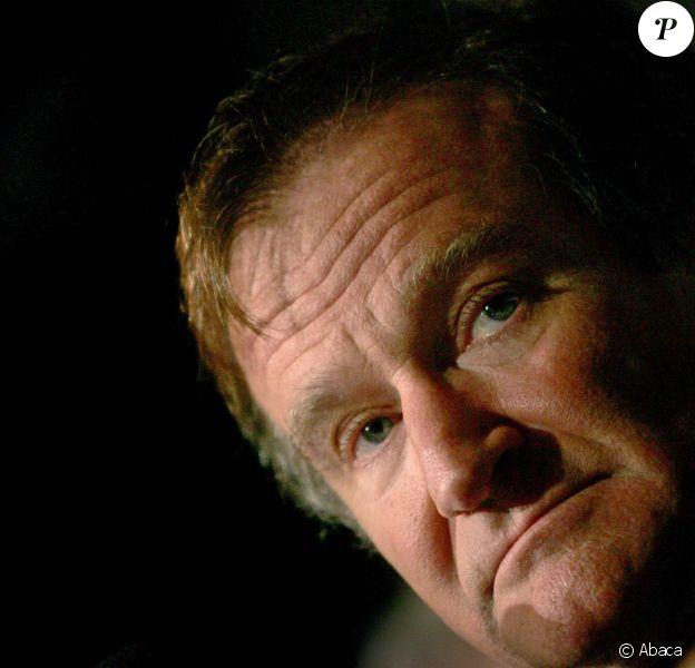 Robin Williams lors de la promotion de The Big White à Rome le 15 novembre 2005