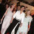 """Kristen Stewart, Juliette Binoche, Chloë Grace Moretz - Descente des marches du film """"Sils Maria"""" lors du 67e Festival du film de Cannes le 23 mai 2014"""