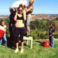 Jennifer Lopez participe au Ice Bucket Challenge le 18 août 2014.