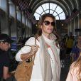 La superbe Cindy Crawford et son double, sa fille Kaia Gerber, arrivent à l'aéroport de Los Angeles le 21 juin 2014
