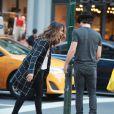 Ian Somerhalder et Nikki Reed se promènent dans les rues de New York, le 24 août 2014.