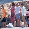 Liv Tyler, son compagnon Dave Gardner et son fils Milo en vacances à Formentera, le 26 août 2014.