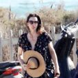 Liv Tyler en vacances avec son compagnon Dave Gardner et son fils Milo à Formentera, le 25 août 2014.