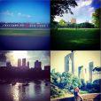 La chanteuse Pauline, compagne de Benoît Paire, lors de son séjour à New York à l'occasion de l'US Open disputé par son compagnon, photo publiée sur son compte Instagram le 20 août 2014